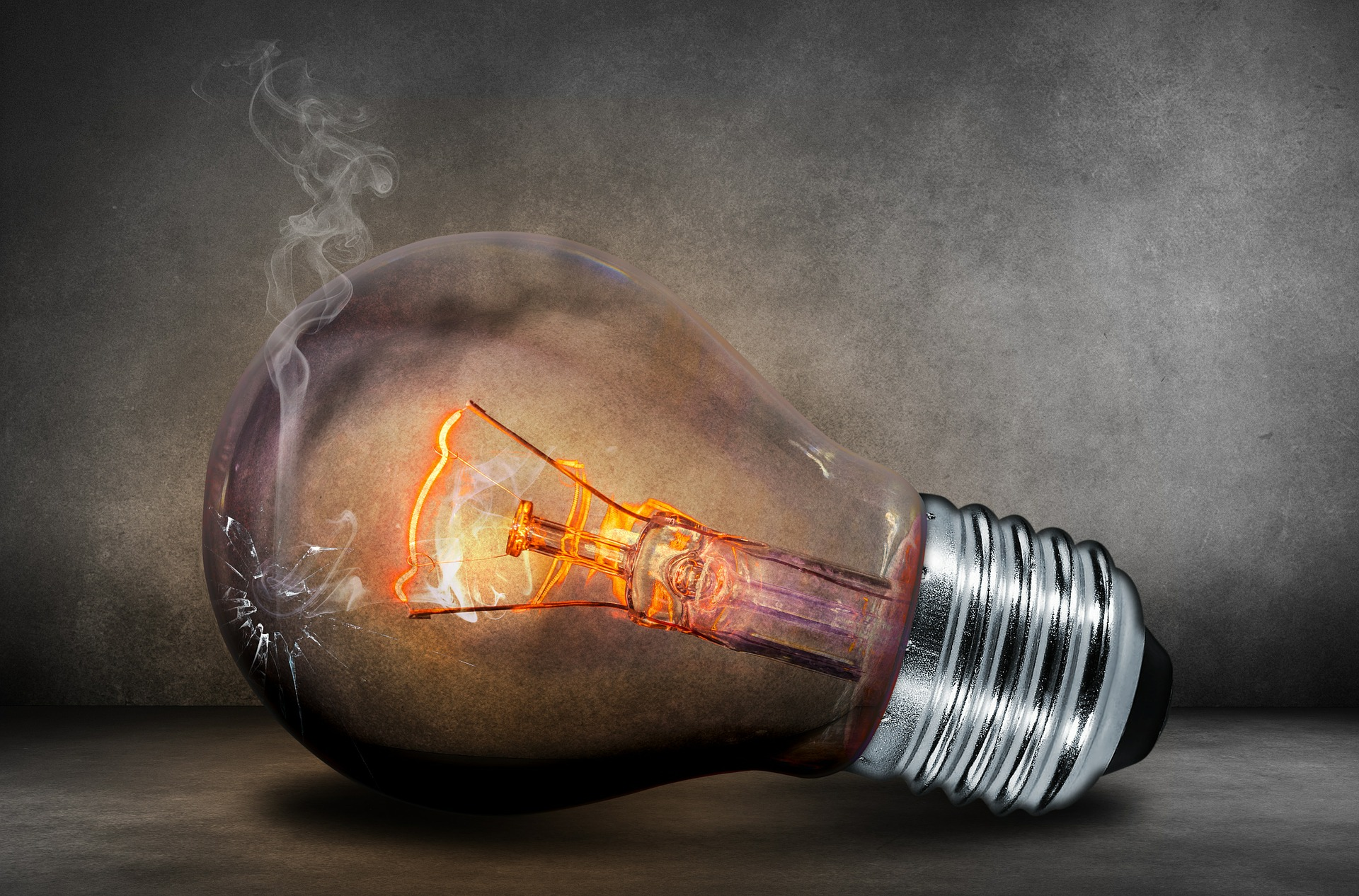 lâmpada quebrada